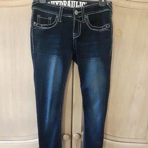 Hydraulic Lola curvy Boot Dark Ornate jeans